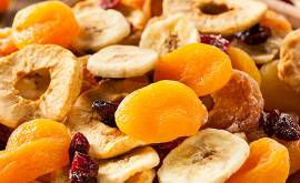 frutta sciroppata, candita e disidratata
